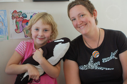 Bonnie knitted A's orca