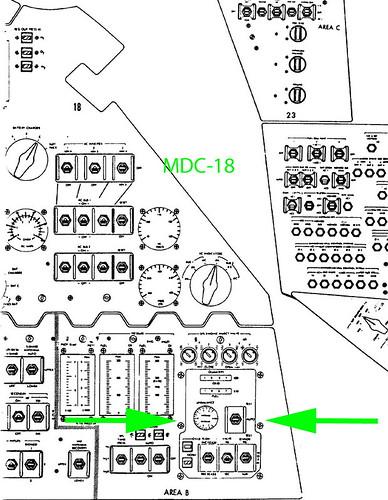 Apollo Block I Propellant Utilization MDC-20 Subpanel