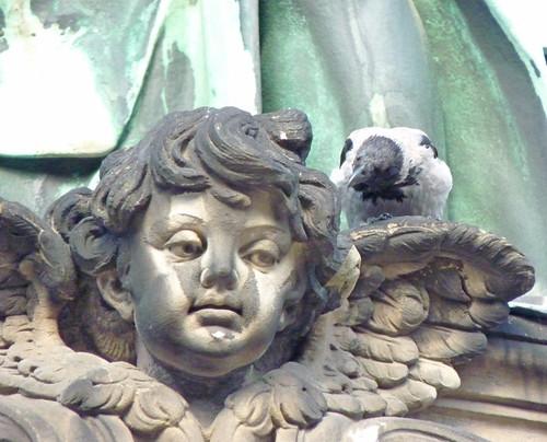 Berlinerdom cherub with pigeon