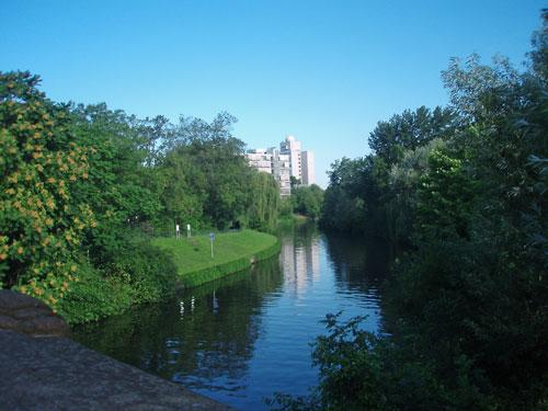 The Landwehrkanal in Charlottenburg, Berlin