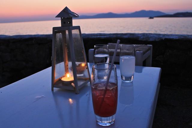 Cocktails, Myconos, Grèce