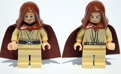 The changes to Obi-Wan are a lot more apparent when you put him next to the old one