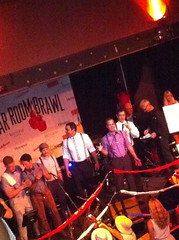 The team from Teardrop Lounge (Portland, OR) accepting People's Choice award at Bar Room Brawl