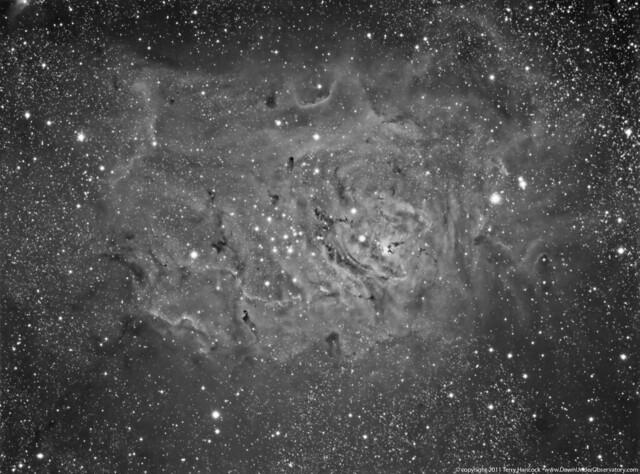 Lagoon Nebula M8 in Hydrogen Alpha