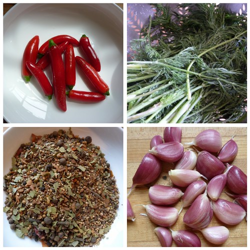 Dill Pickle Ingredients