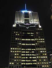 Batman's Bat-Signal in Downtown Pittsburgh