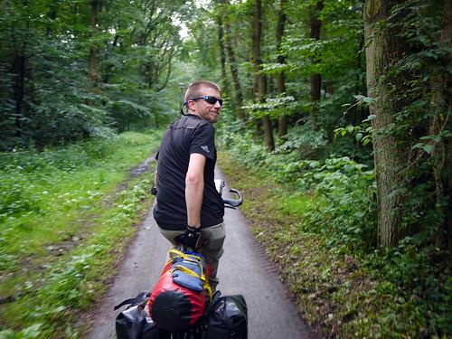 Cycling Through Dutch Woodland