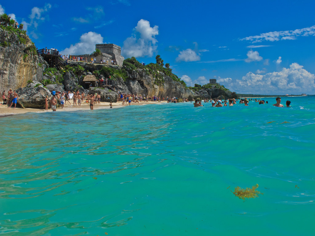 Tulum from the sea
