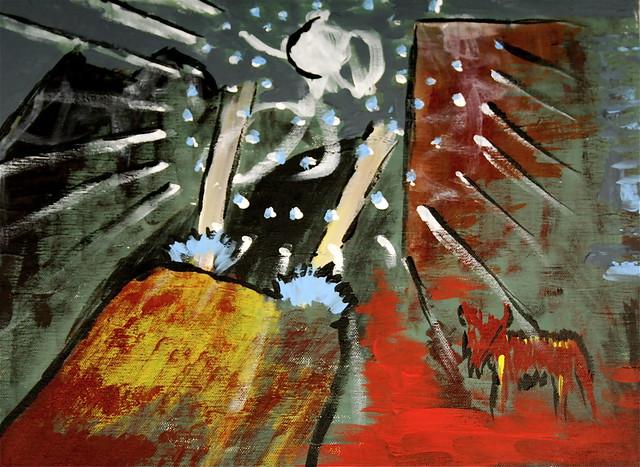 Desert snow dream painting