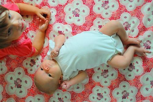 Upside-down baby.