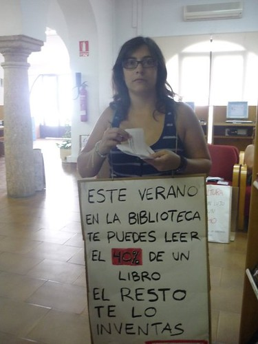 Protesta Cierre Bibliotecas Públicas Andalucía.