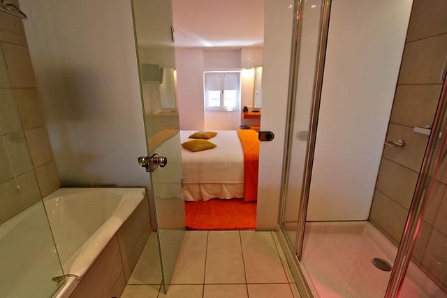 Salle de bain de l'hôtel Theoxenia, Myconos, Grèce