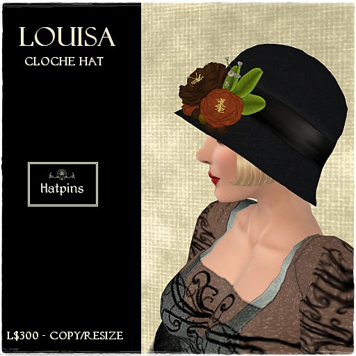 Louisa Cloche Hat - Autumn