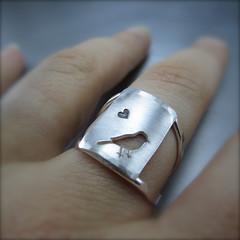 Lovebird Chickadee Ring