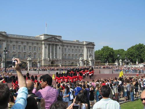 The changing of the guards at Buckingham Palace