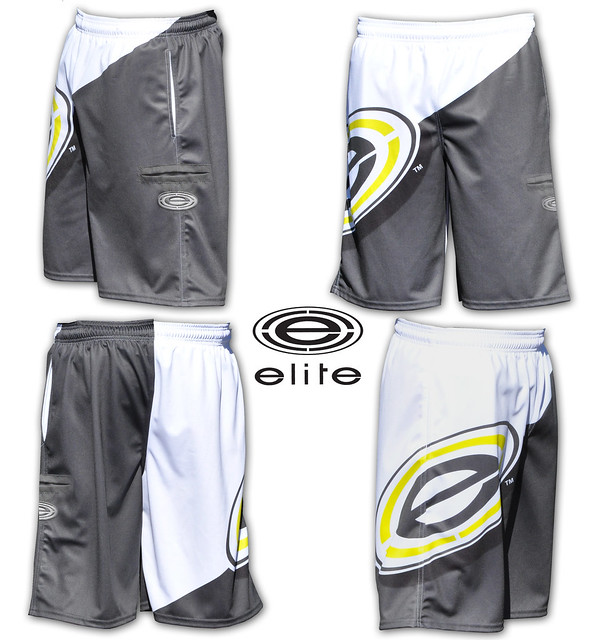 DNA charcoal/ yellow shorts.