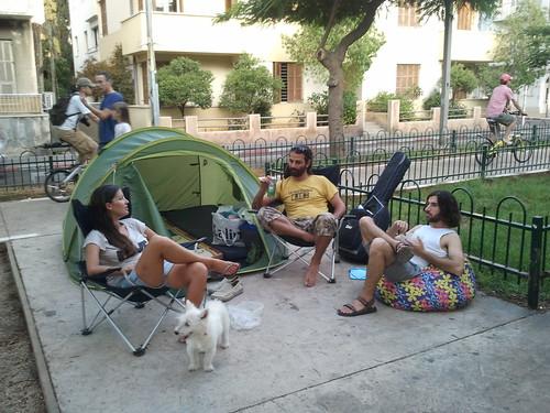 אוהל עם חצר