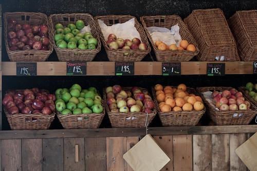Puesto de manzanas en el Borough Market
