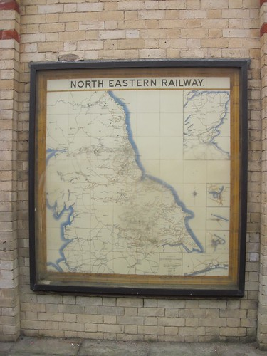 North Eastern Railway Map Tiles, Saltburn