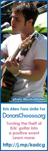 Kris Allen Fans Unite to raise money for DonorsChoose.org in the name of Kris Allen's stolen guitar