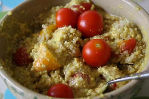 quinoa, tomatoes, Mmmm sauce