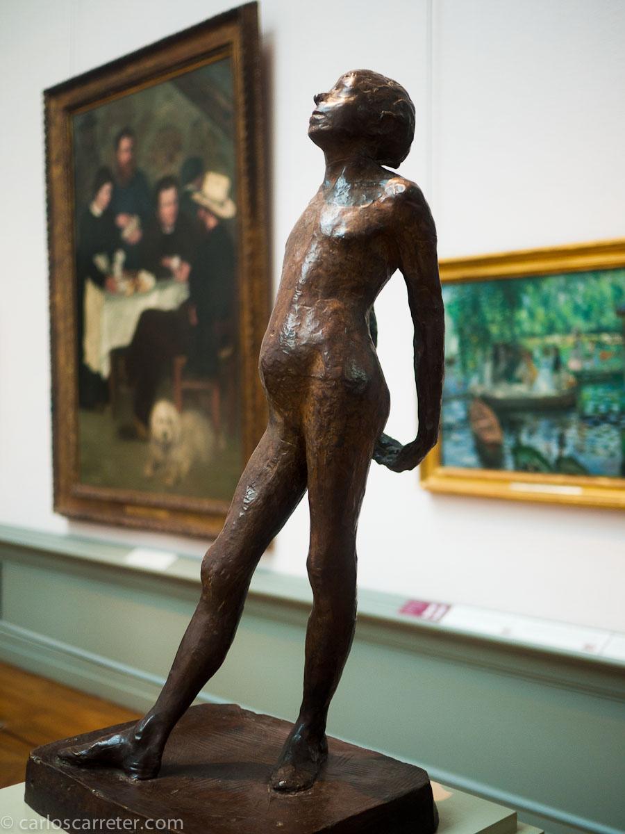 Boceto de la bailarina de Degas (Nationalmuseum)
