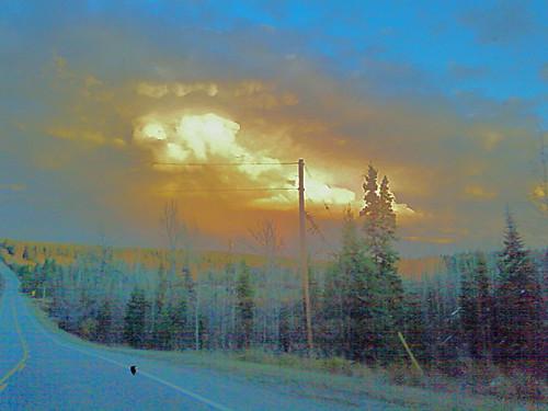Clouds on the Barkerville Highway by Karyn Ellis