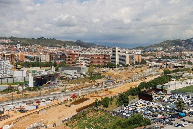 Vista de la zona norte - Sant Andreu - 27-07-11
