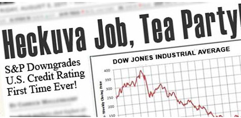 MoveOn's take on the S & P downgrade