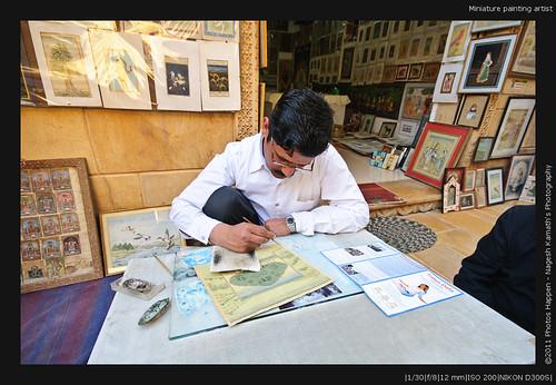 Miniature painting artist