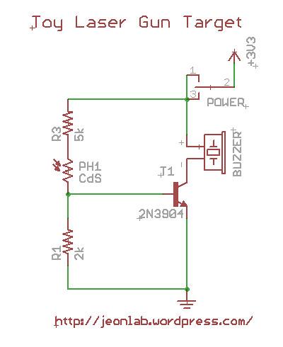 Laser gun target circuit