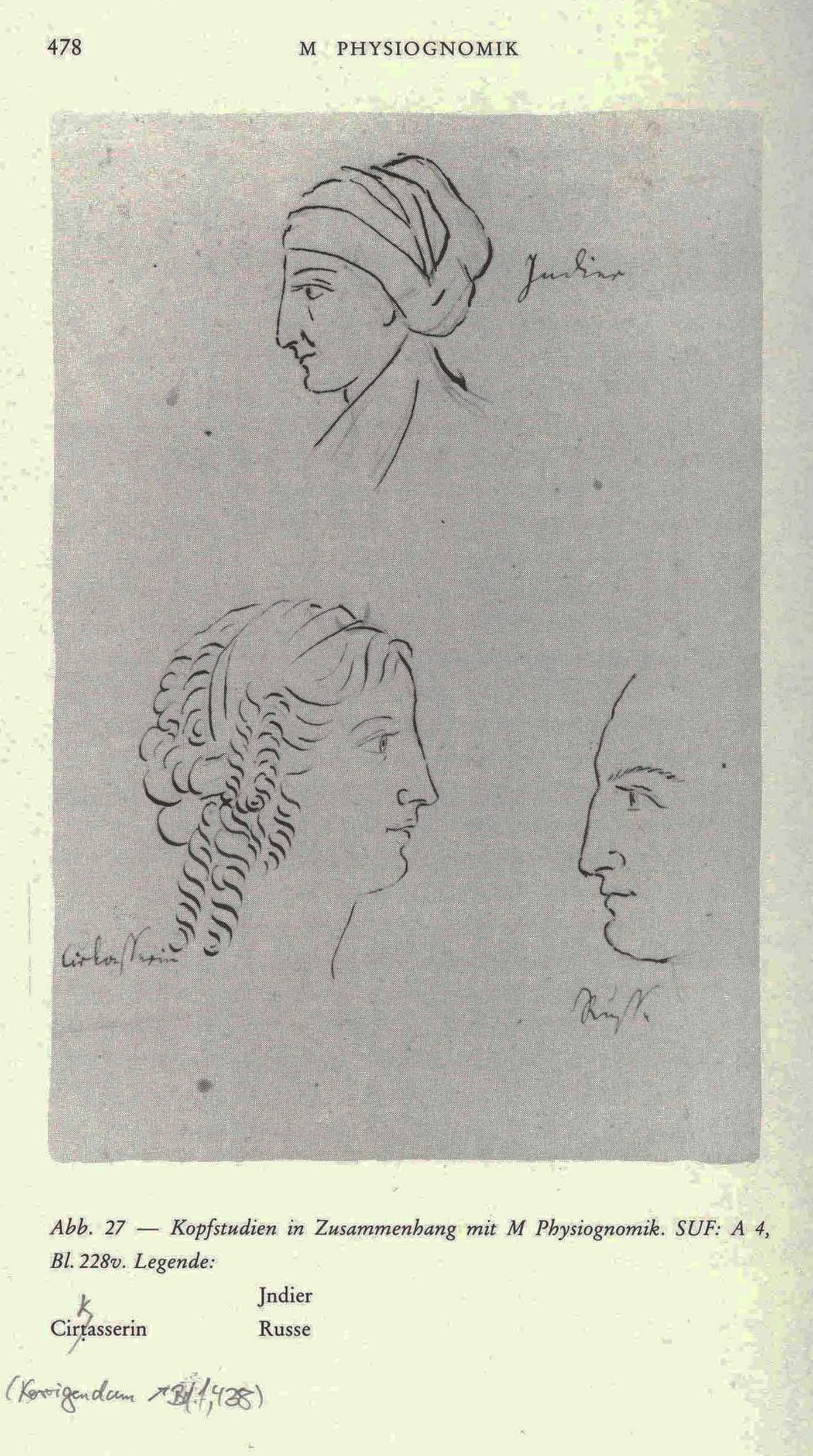 Karoline von Günderrode, Kopfstudien, ca. 1805