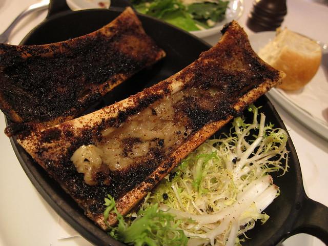 Grilled bone marrow