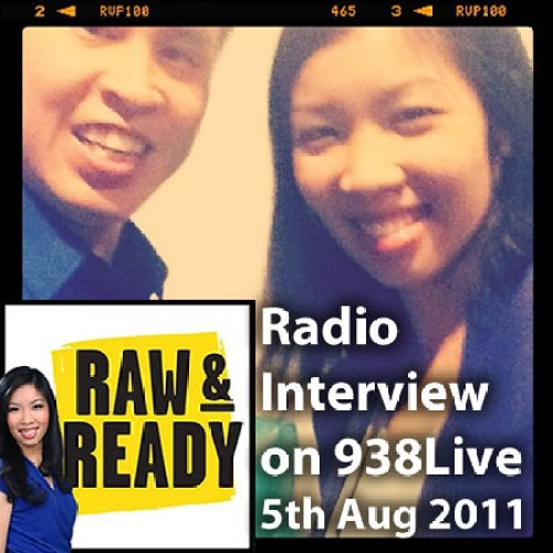 On 938Live's Raw & Ready with Sarah Cheng-De Winne