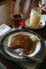 pancakes & local honey