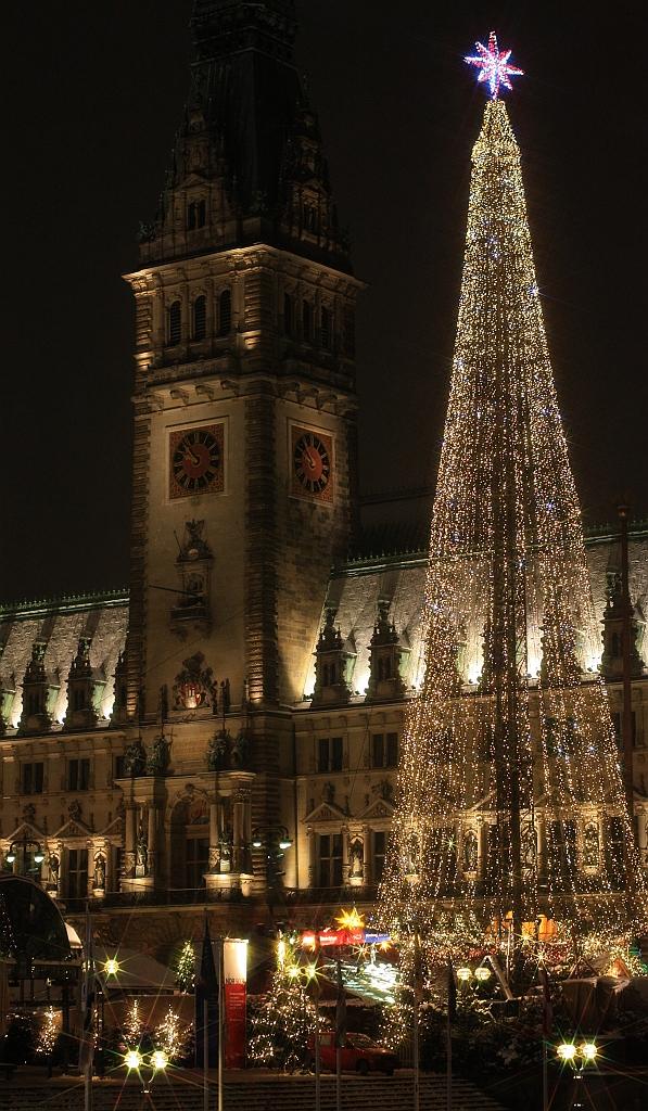 Weihnachtsmarkt Rathausmarkt Hamburg