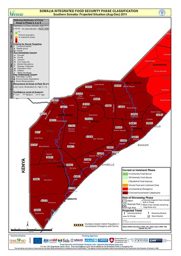 Projected situation for southern Somalia: Aug-Dec 2011