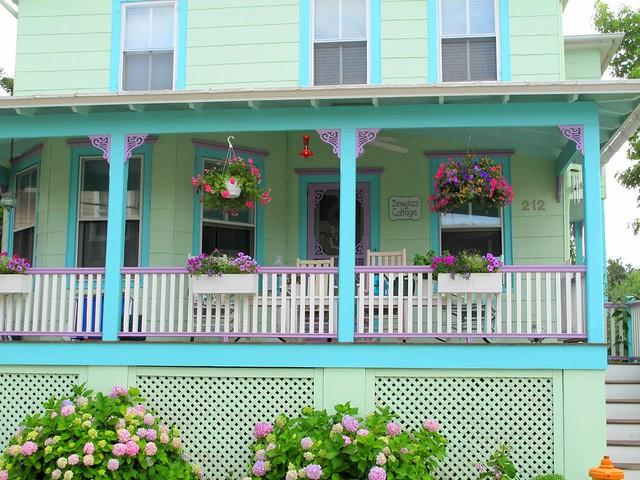 Pastel porch