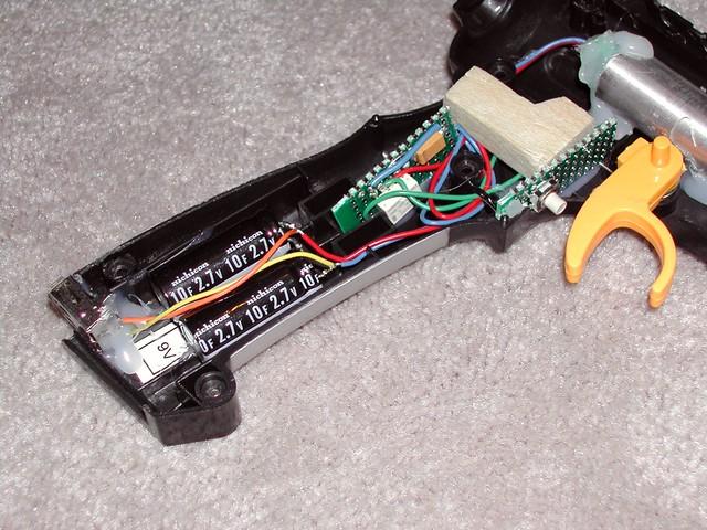 Toy Laser Gun inside circuit