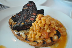 Blood pudding and beans