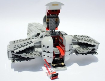 Cockpit with stairs down and saber out