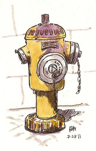 yellow lisbon hydrant