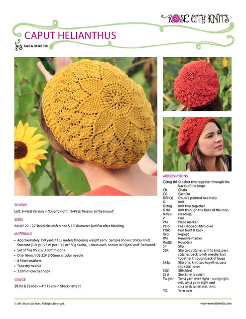 Caput Helianthus pattern preview