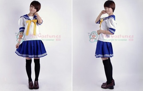 Lucky Star Summer Uniform Cosplay Costume_2