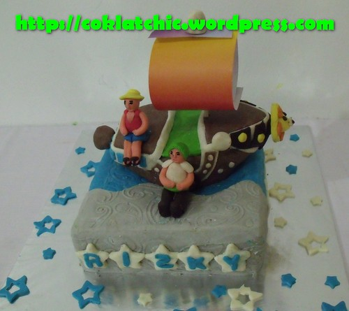 Cake perahu one piece