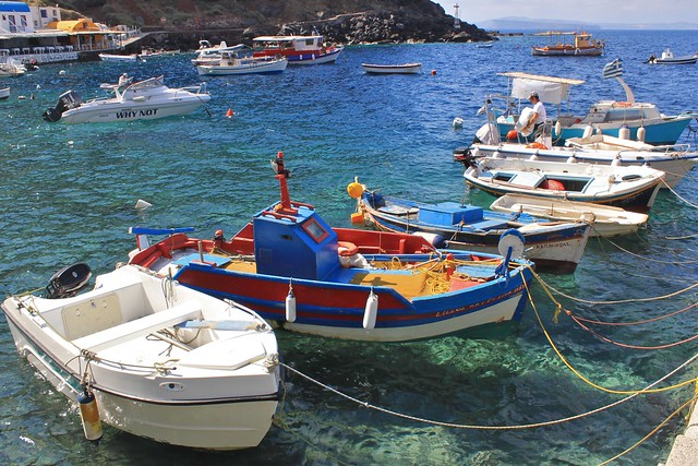 Baie d'Amoudi, Santorin