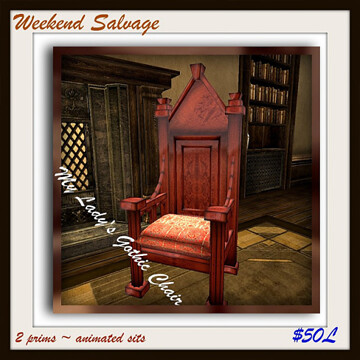 Weekend Salvage My Lady's Gothic Chair 50l$