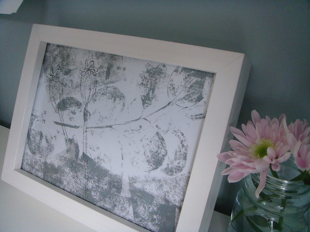 Framed monoprint