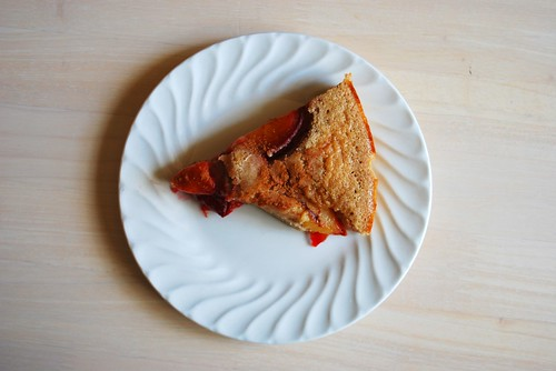 a slice of plum kuchen
