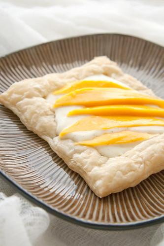 Flaky Mango Cream Pastries